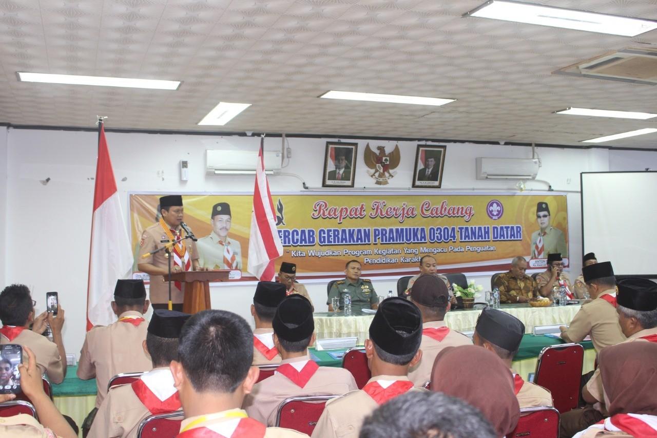 Kwarcab 0304 Tanah Datar Laksanakan Rapat Kerja 2018