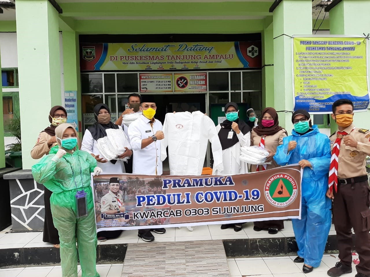 Bakti Pramuka Peduli Sijunjung Di Tengah Pandemi