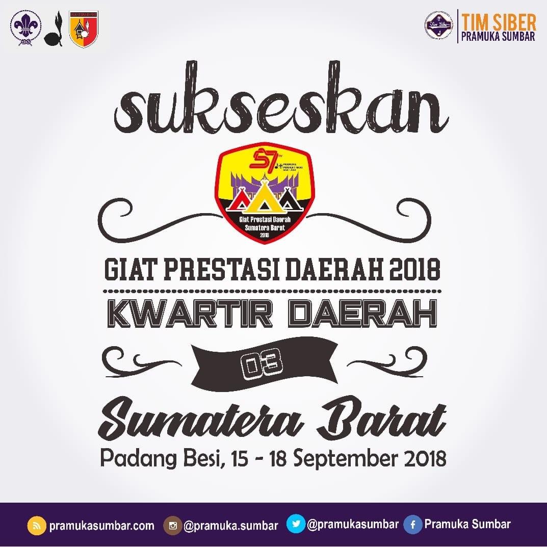 Kwarda 03 Gerakan Pramuka Sumatera Barat adakan Giat Prestasi Daerah Tingkat Pramuka Penegak Tahun 2