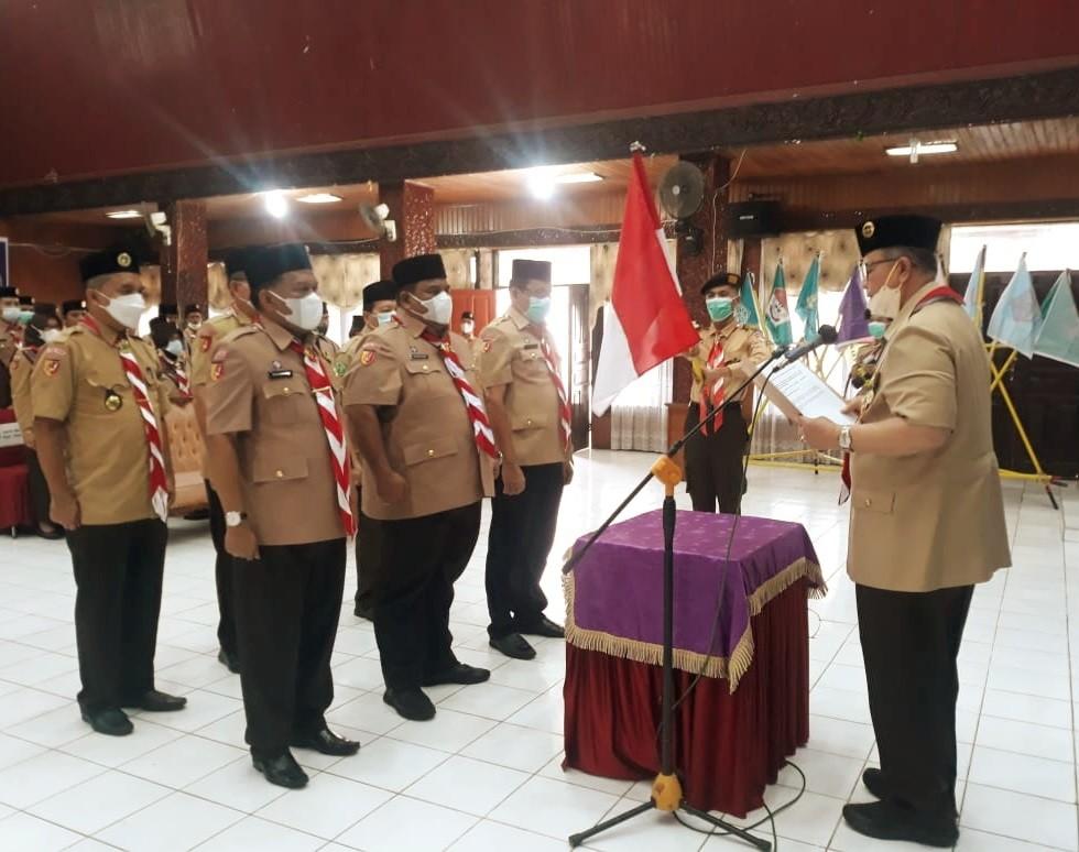 Ketua Kwarda Sumbar Lantik Bupati Padang Pariaman Menjadi Ketua Mabicab