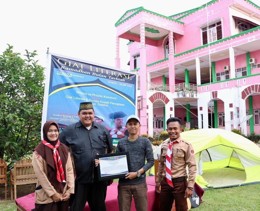 Pramuka Undhari Menggelar Giat Literasi, Ramadan Bulan Tarbiah