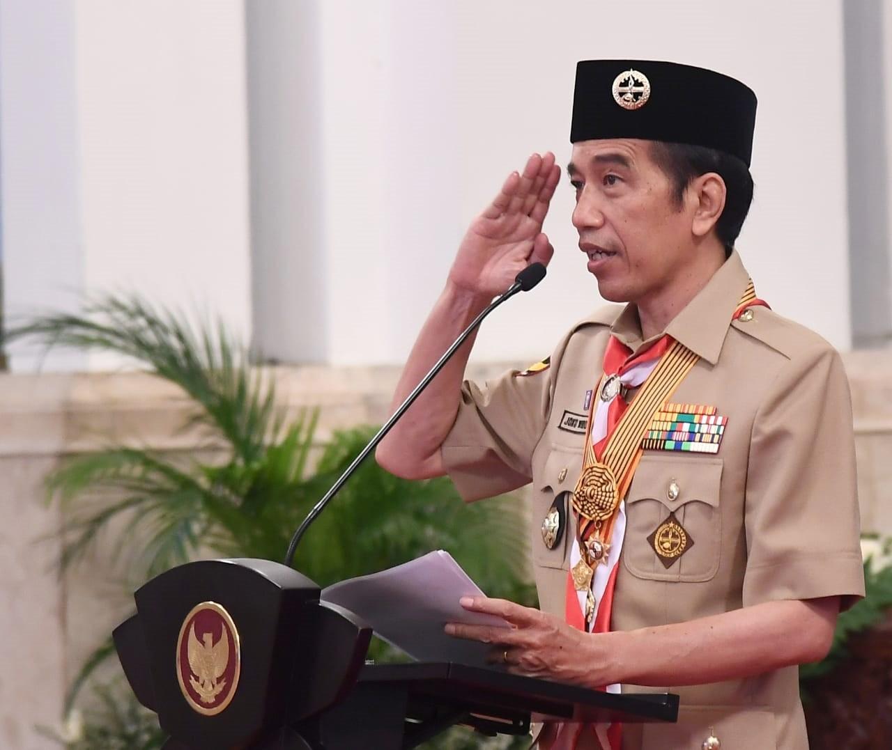 Presiden Joko Widodo Puji Pramuka dalam Menanggulangi Covid, Ini Pesan Lengkapnya