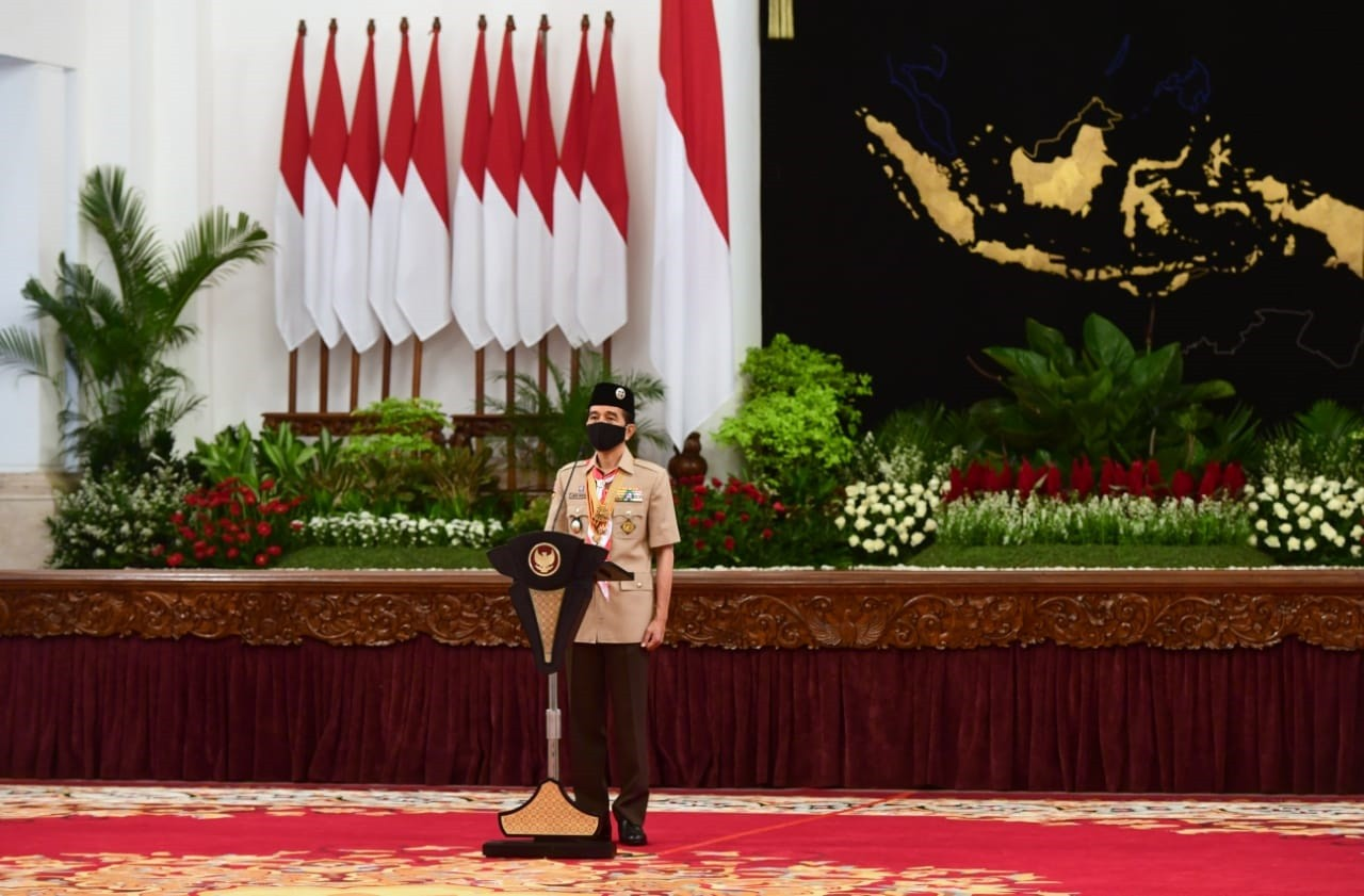 Presiden Joko Widodo Jadi Pembina Upacara Hari Pramuka secara Virtual