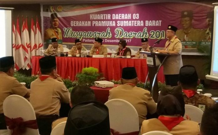 Nasrul Abit Terpilih Jadi Ketua Kwarda Pramuka Sumbar