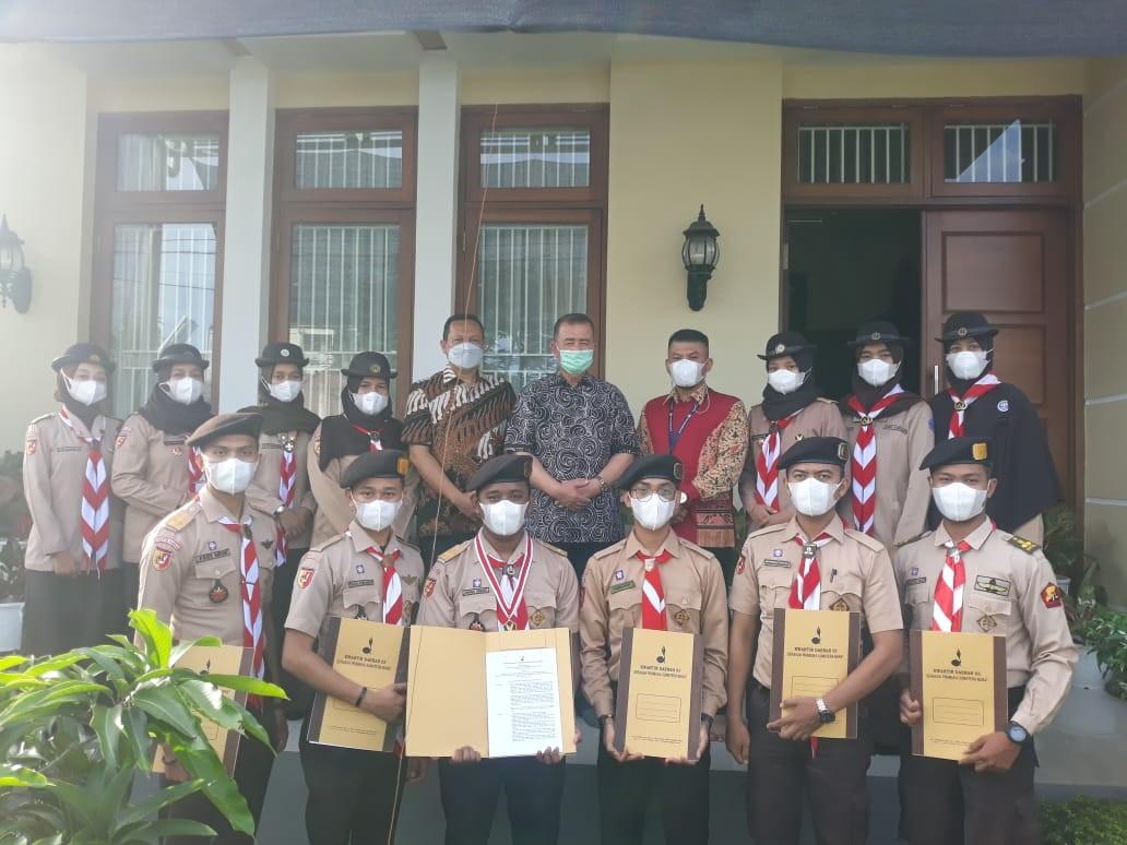Ka. Kwarda serahkan SK PAW Dewan Kerja Daerah Gerakan Pramuka