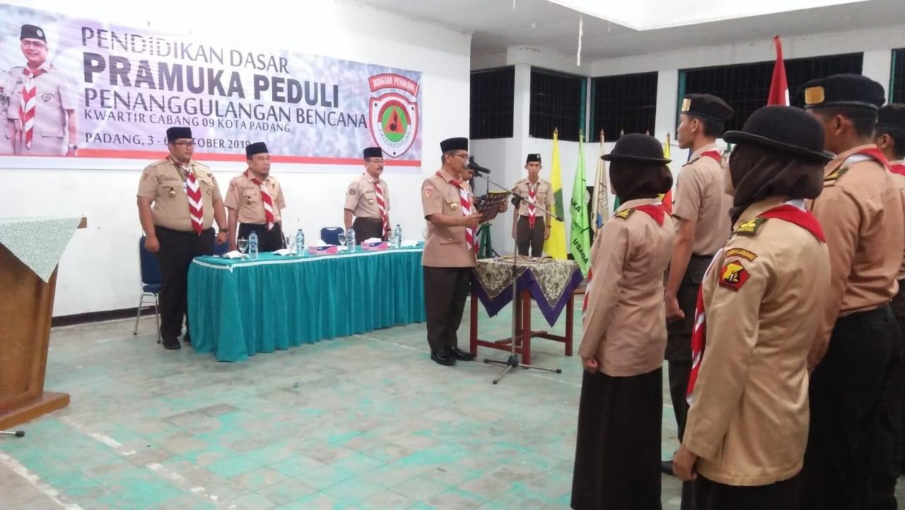 Diksar Pramuka Peduli Kwarcab 09 Kota Padang