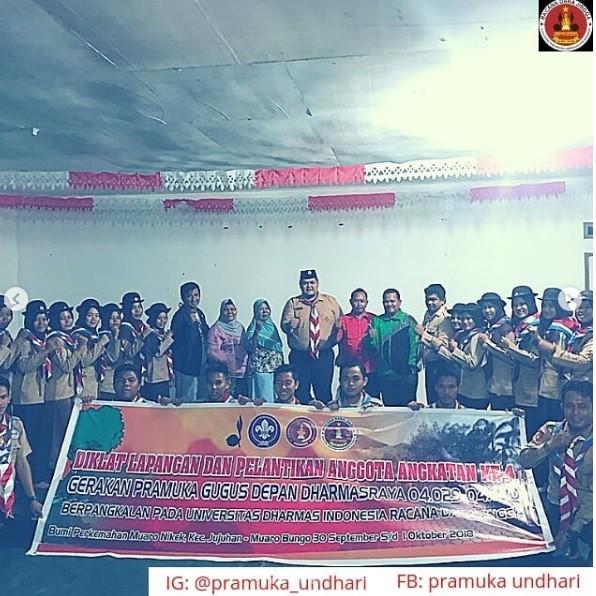 Pelantikan Pramuka Undhari di Buper Jujuhan, Bungo-Jambi